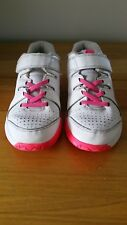 Girls Nike Shoes Vapor Court Sneakers White / Pink 2.5