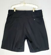 Under Armour Golf short Mens Size 38 solid Black Casual Pleated Front polyester