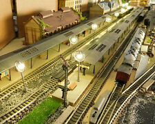 10 graue Ringlampen LED Bahnsteiglampen, ca. 65 mm hoch, warmweiß