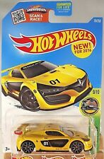 2016 Hot Wheels #79 HW Exotics 9/10 RENAULT SPORT R.S. 01 Yellow w/Gray Trap5 Sp