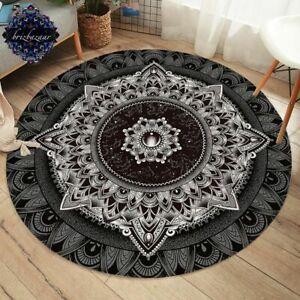 Mandala By Brizbazaar Round Carpet Flower Non-slip Floor Matarea Rug  2021