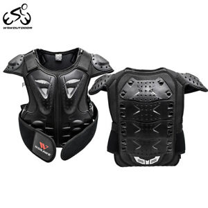 Kids Motorcycle Body Armored Chest Protector Vest Child's Dirt Bike Race Jacket