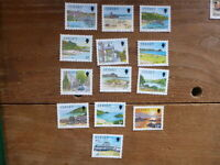 JERSEY 1989 DEFINITIVES SET 13 MINT STAMPS
