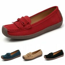 Women Comfort Slip On Bowknots Tassel Loafers Driving Moccasins Flats Shoes 42 D