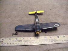 Vintage WW2   Corsair Plastic Airplane Model, FOR PARTS DAMAGED