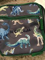 Pottery Barn Kids Mackenzie Classic Lunch Bag Green Gray Lost World Mon Nicholas