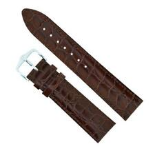 New 18mm Hirsch Brown Crocodile Embossed Watch Strap 12322810-1-18