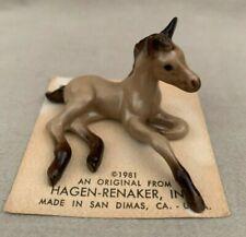 Hagen-Renaker 1981 Mini Buckskin Foal, Laying