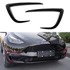Fit 2020 Tesla Model Y Front Fog Light Trim Decoration Accessories(Black)