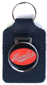 Humber Keyring Key Ring - red badge mounted on a leather fob