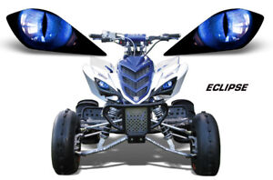 Headlight Eye Graphic Decal for Yamaha Raptor 700/350/250 YFZ450 Eclipse Blue