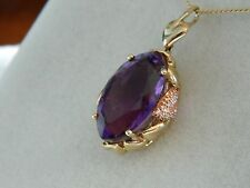Clogau 9ct Welsh Gold 'Ar Dan' Amethyst & Diamond Pendant RRP £1,600.00