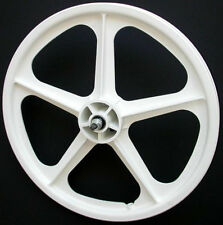 "Skyway 20"" TUFF WHEELS II old school bmx sealed Mags WHITE Made in the USA Retro"
