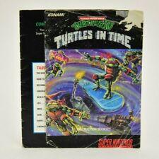 Teenage Mutant Ninja Turtles IV Turtles in Time (SNES) MANUAL ONLY NOT MINT
