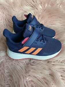 Adidas Kid's Duramo Blue / Coral / Pink Size 7 For Girls