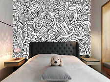 Cartoon City 1 Wall Paper Wall Print Decal Wall Deco Indoor Wall Murals Wall