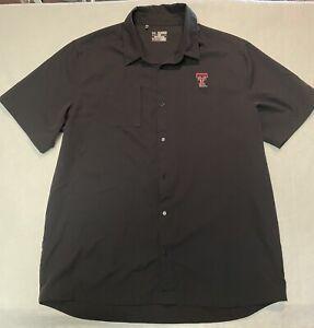Under Armour Heat Gear Button Up Shirt Texas Tech 3XL