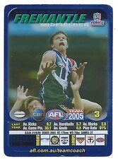 2005 Teamcoach Blue Star Premium Prize Card (59) Byron SCHAMMER Fremantle