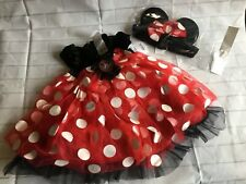 Disney Baby Minnie Mouse Costume & Headband Size 12-18 Months NEW