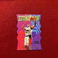 CHARLES BARKLEY , ROCKETS , 1997 Z FORCE , ZENSATIONS DIE CUT INSERT NBA CARD 25