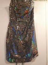 Vintage Dress Strapless Sparkly Disco Ball Mike Benet Formals
