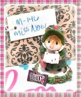 ❤️Wee Forest Folk M-146 Miss Noel Christmas Rare Green Coat Girl Mouse Figure❤️