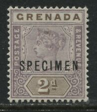 Grenada 1895 2d lilac & brown overprinted SPECIMEN unused no gum