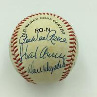 Nice Hank Aaron Willie Mays Hall Of Fame Signed Baseball 17 Sigs PSA DNA COA