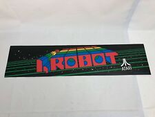 NOS Atari I,ROBOT Marquee Translite