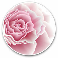 2 x Vinyl Stickers 7.5cm - Pink Rose Flower Love Cool Gift #15593