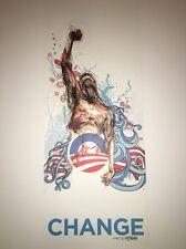 Derek Hess President Obama Change Political Poster Art Print Free Ship US