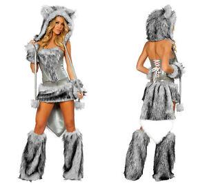 Halloween Cosplay Costumes Animal Cosplay Set Women Sexy Wolf Cosplay 6 PCS Set