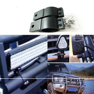 2X 49-54mm Bullbar Mounting Bracket Clamp LED Work Light Bar Antenna
