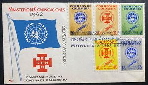 1962 Bogota Colombia First Day Cover FDC World malaria Campaign