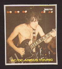 AC/DC ACDC Angus Young Vintage Belgian Pop Rock Music Sticker D