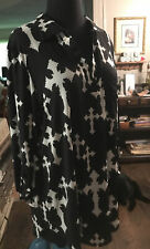 white crosses on black blouse large