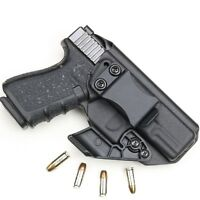 BLACK Kydex Holster for Glock 19/19x/23/25/45 Iwb/Aiwb + CLAW/ WING Adjustable.