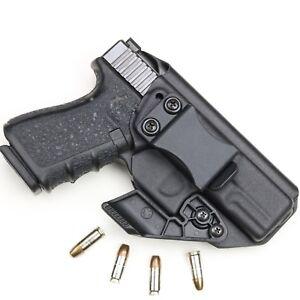 BLACK Kydex Holster for Glock 19/19x/23/25/45 Iwb/Aiwb + CLAW/ WING Adjustable.