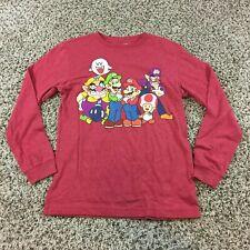 Old Navy Collectabilitees Youth XL (14-16) Super Mario Long Sleeve Shirt Red