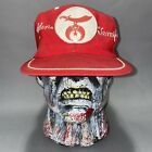 Aladdin Temple Masonic Shriner Hat Ball Cap Red White Pre Owned Vintage 1950s