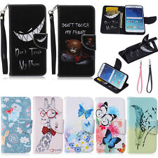Flip Wallet PU Leather Case Pouch Folio Cover Stand Card Holder With String New