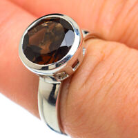 Smoky Quartz 925 Sterling Silver Ring Size 7.5 Ana Co Jewelry R48155F