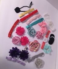 Baby Girl Headband Lot Newborn - Toddler Size Preowned *Make Your Own DIY Pieces