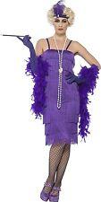Costume Carnevale Donna Charleston Anni 20 Gonna Lunga Viola PS 25307