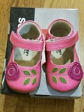 "New Fall Smaller by See Kai Run ""Carli""hot pink leather shoes, tod. 4 (20),NIB"