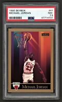 1990 SKYBOX MICHAEL JORDAN #41  CHICAGO BULLS HOF LAST DANCE  PSA 7.5 NEAR-MINT+