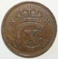 1919 DENMARK 2 ORE  NICE WORLD COIN