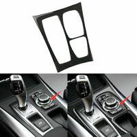 Carbon Fiber Car Gear Shift Box Panel Trim Fit For BMW E70 X5 E71 X6 2008-2013