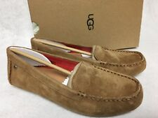 UGG Australia Women's Milana Water Resistant Suede Loafers Chestnut 1016766