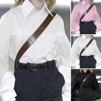 UK Women Long Sleeve Ladies Glossy Faux Satin Loose Top Blouse T Shirt Size 8-20